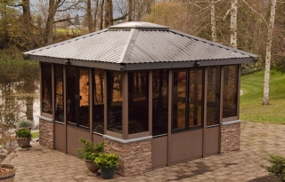 Enclosed gazebos for Spa gazebo kits