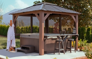Semi enclosed gazebos - Enclosed gazebo models ...